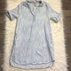 Philosophy Chambray Meteor Stripe Shirt Dress